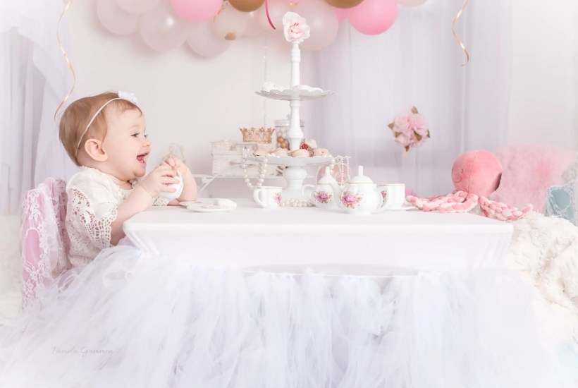 Tea Party Session One Year Old Girl