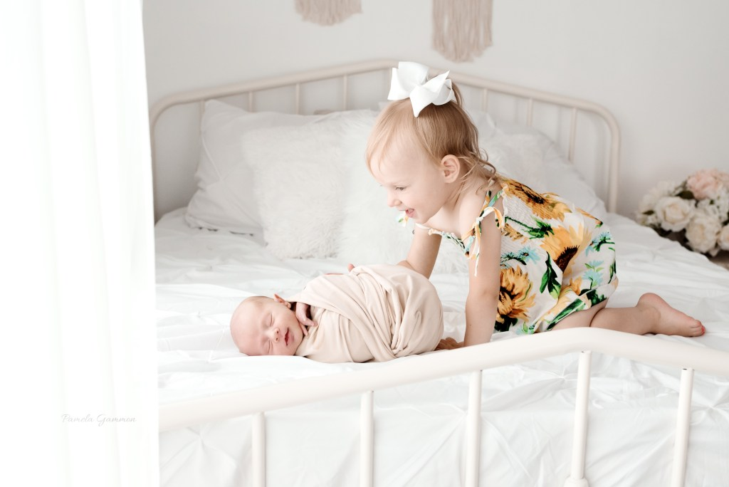 Newborn Boy with Toddler Sister Pictures