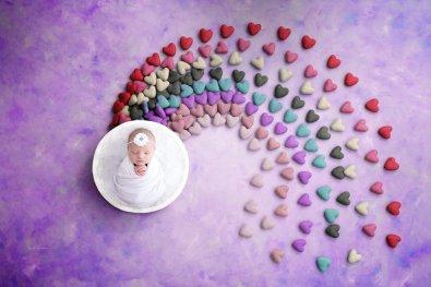Newborn Session Ashland Kentucky Rainbow Baby