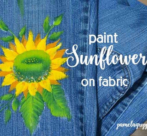 Paint Sunflowers on Fabric.