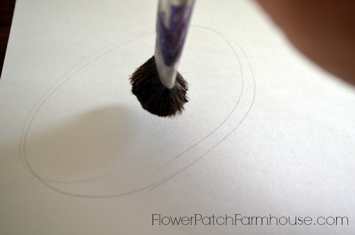 How to Paint Sunflowers for Beginners, painting the center of a sunflower