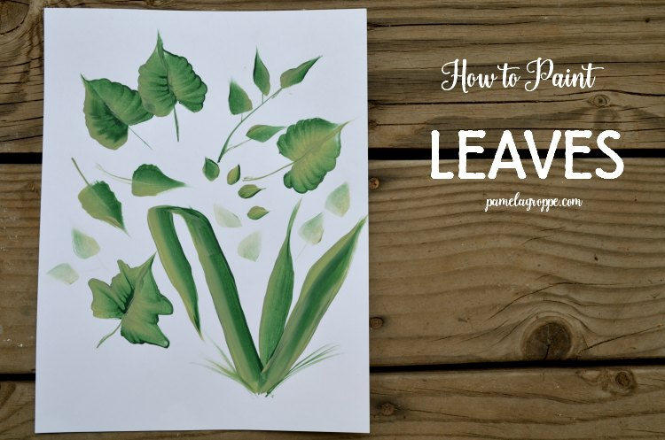 How to Paint Leaves in Acrylics