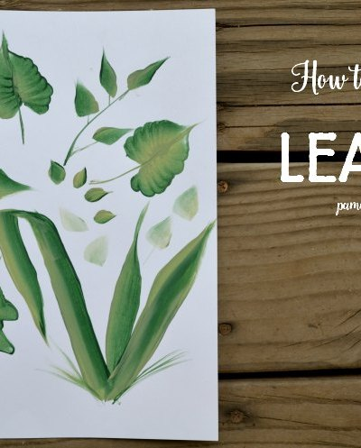How to Paint different types of leaves. Hand painted leaves add the finishing touch to your flower paintings.