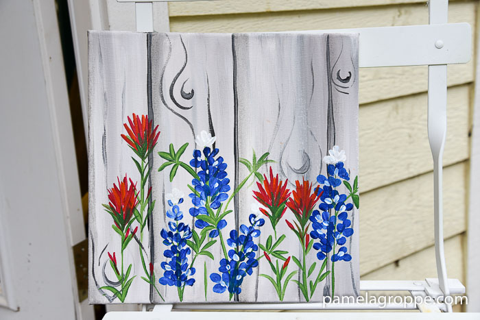 How to Paint Texas Bluebonnets