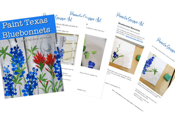 Painting Texas bluebonnets workbook