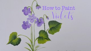 Learn how to Paint Violets 3 Ways