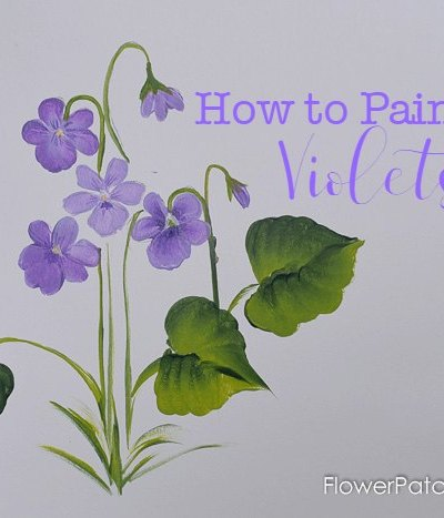 How to Paint Violets