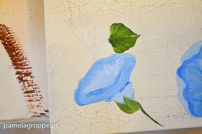 How to paint Morning Glories