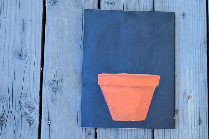 Paint a Terra Cotta Pot in Acrylics