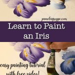 How to Paint an Iris one easy stroke at a time. Free painting tutorial with video!