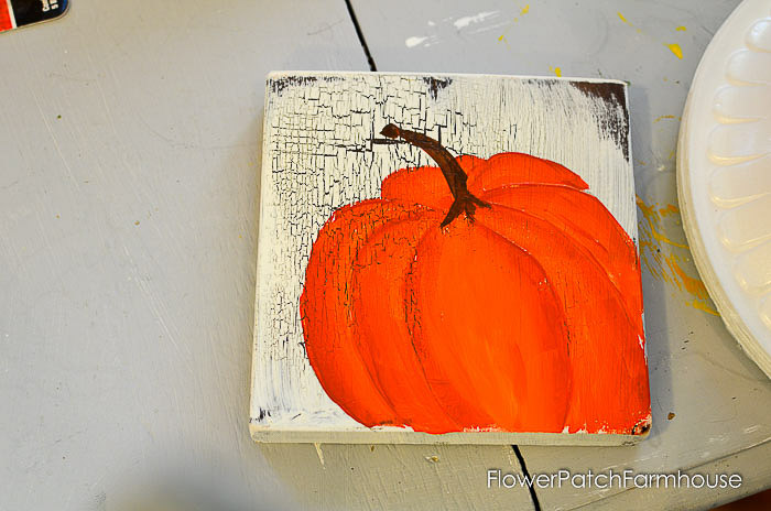 paint the pumpkin stem