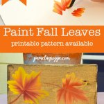 How to paint Fall Leaves, fall leaf paintings