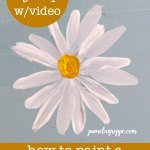 simple Daisy painted in acrylics with lettering, How to Paint a Simple Daisy