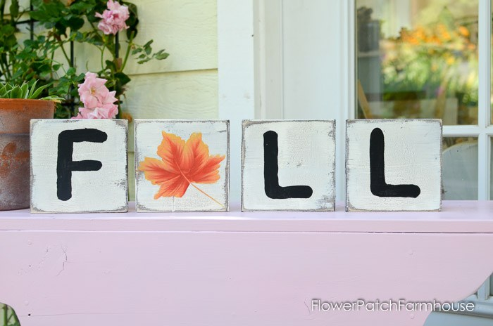 Fall Scrabble DIY art hand painted sign