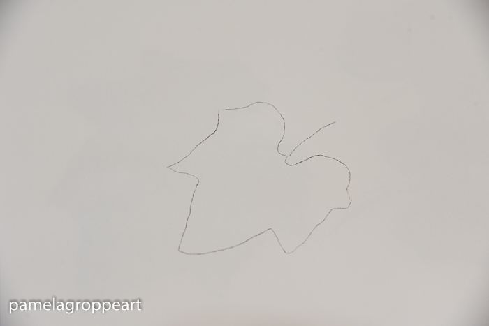 Leaf pattern on painting surface, How to Paint Pumpkin Leaves