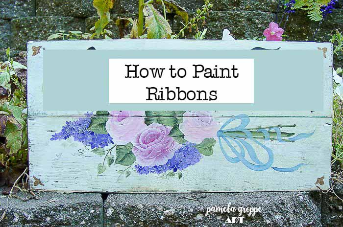Paint Ribbons in Acrylics Easy & Fun