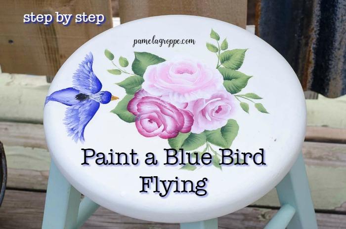 Paint a Blue Bird in Flight
