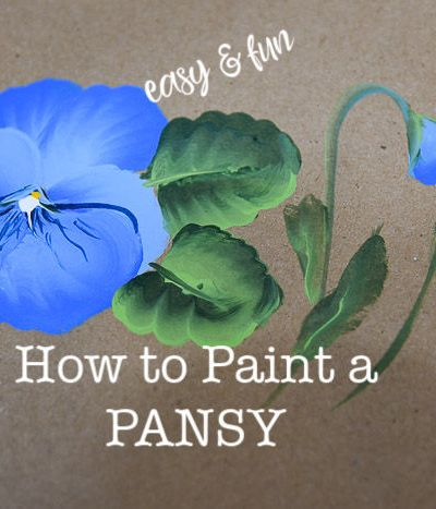 pansy painting, how to paint a pansy