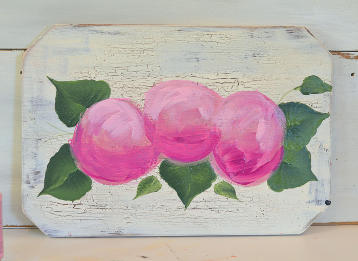 Base painting of hydrangeas