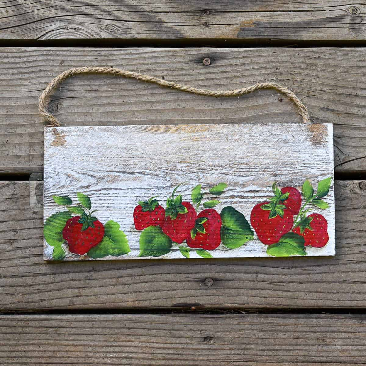 How to Paint Strawberries