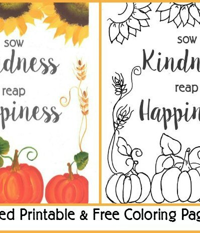 fall printable coloring page