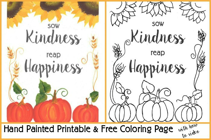 fall printable coloring page