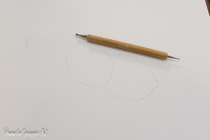 lemon drawing to paint, how to paint lemons