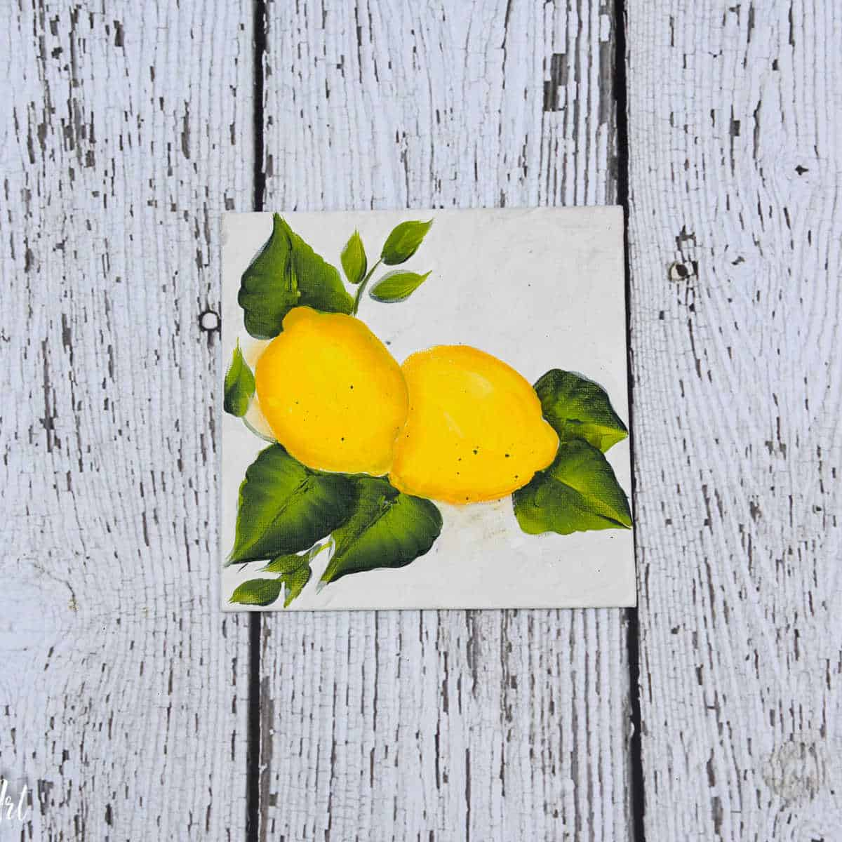 How to Paint Lemons in Acrylics