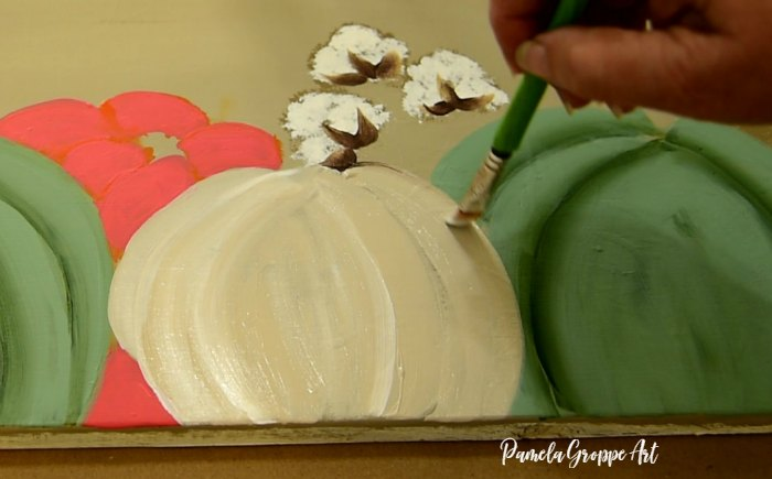painting the white pumpkin