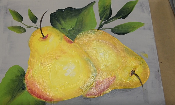 Paint a Pear, add the step to complete painting a pear