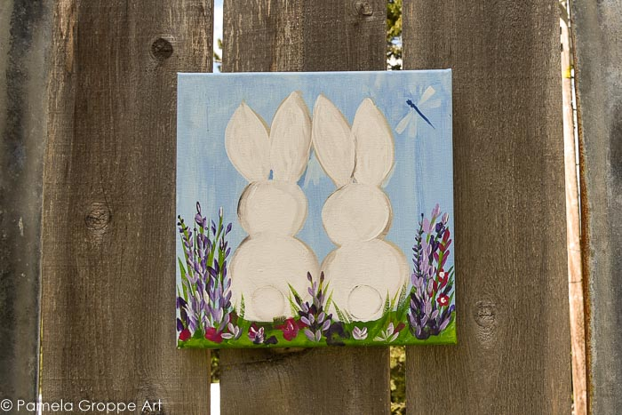 Paint Bunnies in Acrylics