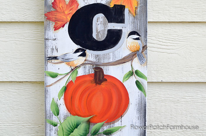 Paint a Fall Welcome Sign