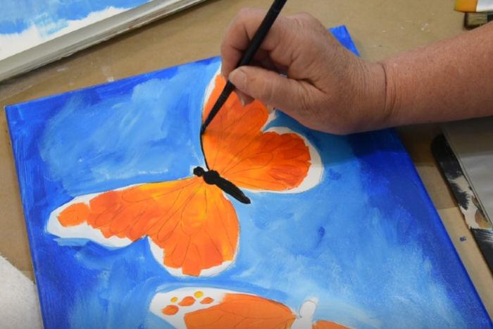 Paint Monarch Butterfly body