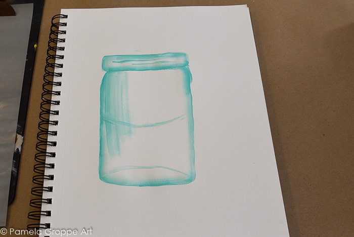 create water line on jar