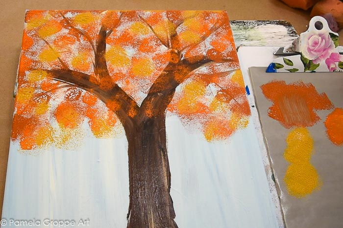 adding Yellow Ocher to tree