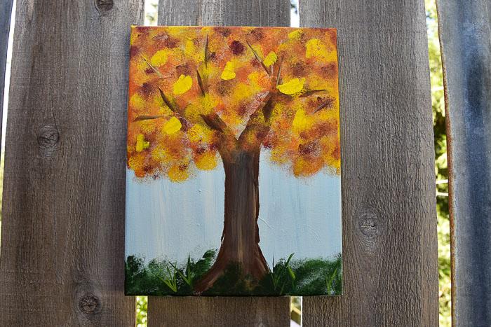Paint a Fall Tree