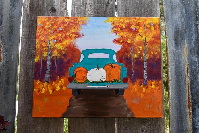 Paint a Fall Truck with Pumpkins