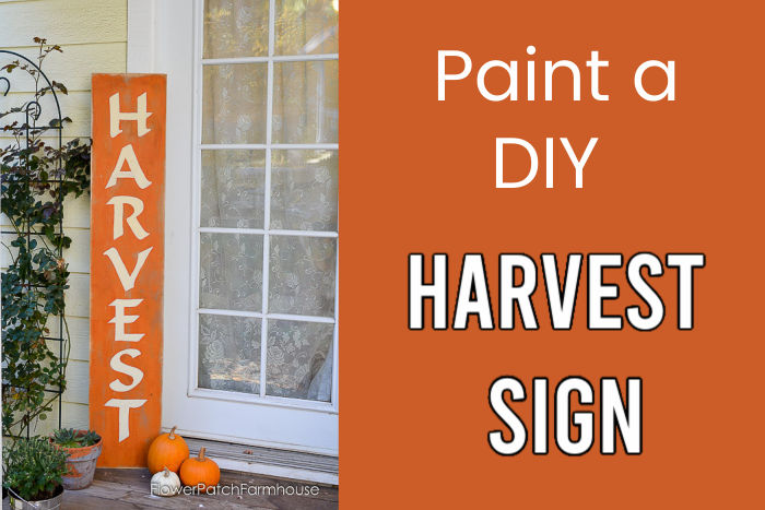 Paint a DIY Fall Harvest sign