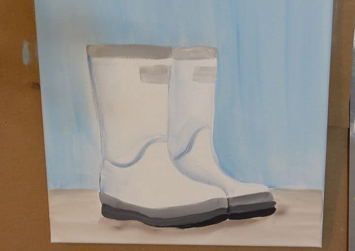 Paint Boots in Acrylics