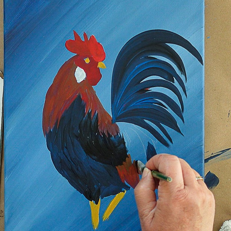 Paint Rooster Wing