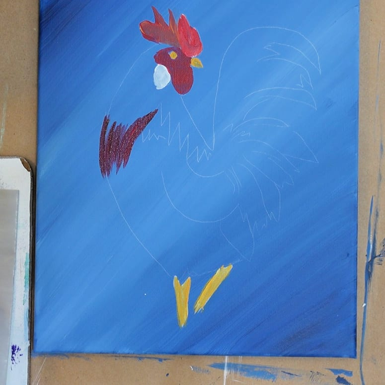 Paint neck feathers
