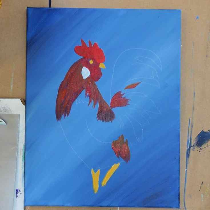 Paint Rooster Comb, Wattle and Legs