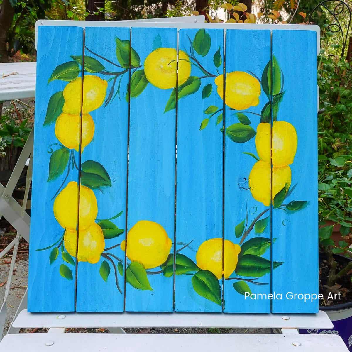 Wreath with Lemons Paint Tutorial