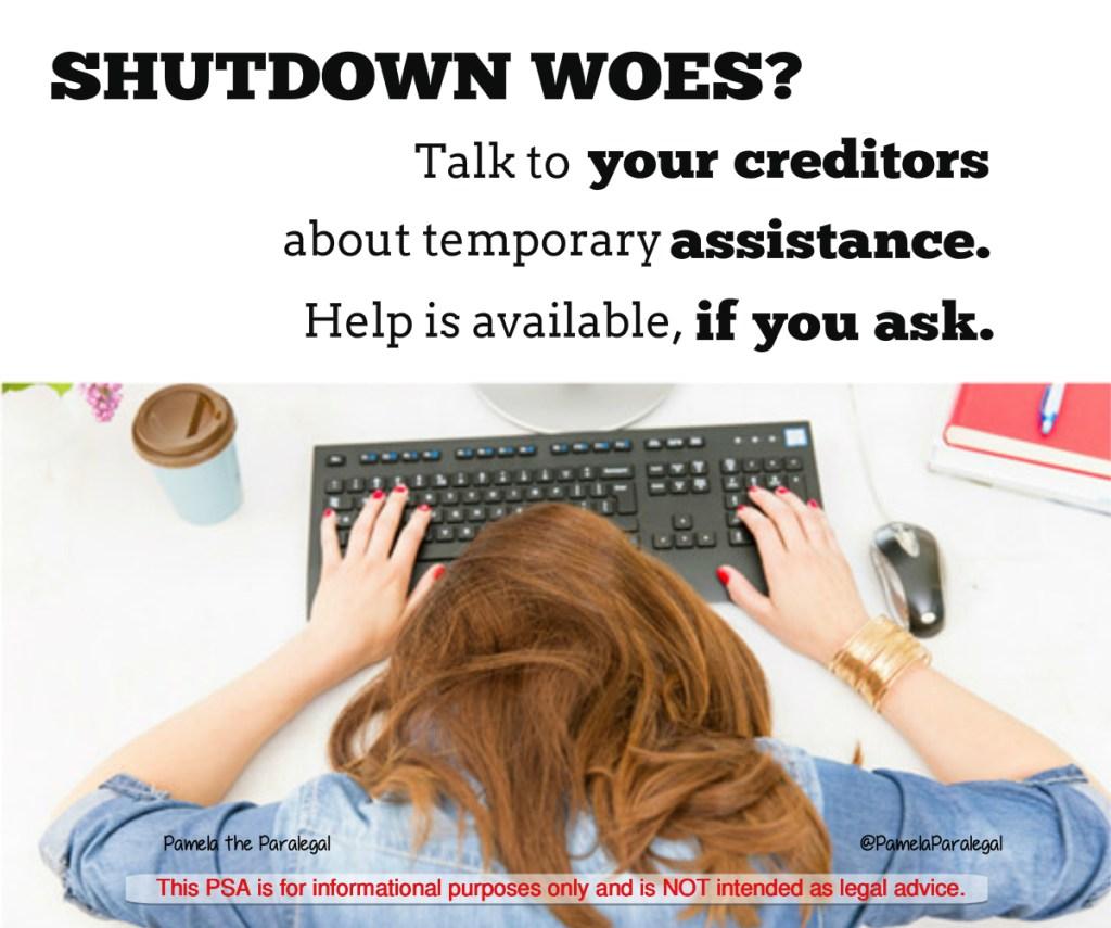 shutdown assistance