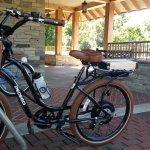 Pedego Bike at Furman Shi Center Bike Parking