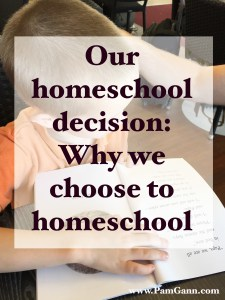 Why we decided to homeschool our kids