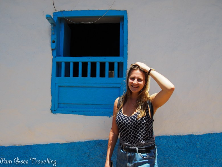 Posing in the pretty town of Barichara