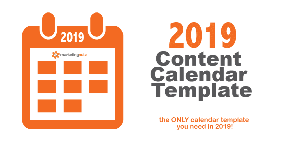 2019 Content Calendar Template Official