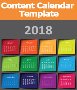 2018 Content Editorial Calendar Template Social Media