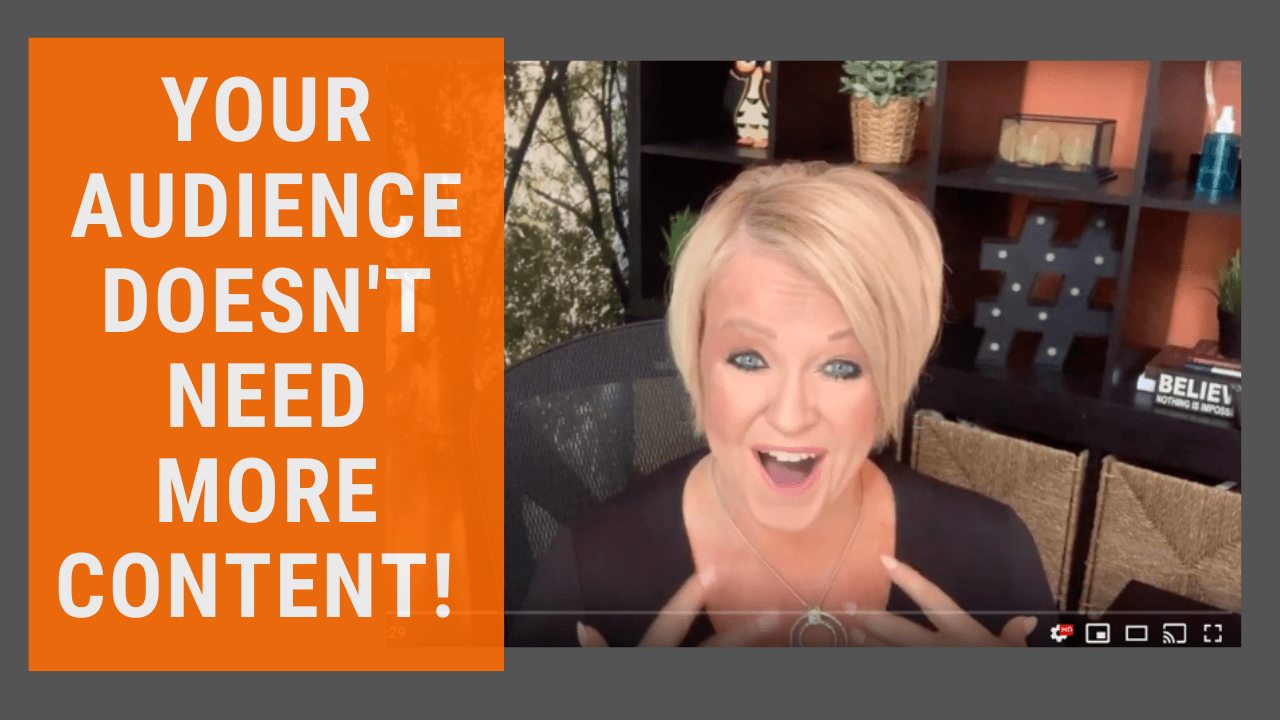 Your Audience Doesn't Need More Content From You